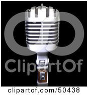 Royalty Free RF 3D Clipart Illustration Of A Retro Microphone Version 1