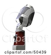 Royalty Free RF 3D Clipart Illustration Of A Retro Microphone Version 3