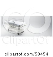 Royalty Free RF 3D Clipart Illustration Of A Hospital Bed With Bars On The Sides by Frank Boston