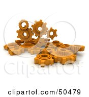 Group Of Orange Gears
