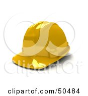 Royalty Free RF 3D Clipart Illustration Of A Yellow Hardhat