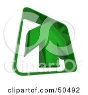 Royalty Free RF 3D Clipart Illustration Of A Green Arrow Pointing Upwards by Frank Boston