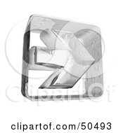 Royalty Free RF 3D Clipart Illustration Of A Clear Ice Arrow Pointing To The Right by Frank Boston