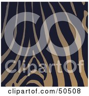 Royalty Free RF 3D Clipart Illustration Of A Background Of Orange And Black Zebra Skin