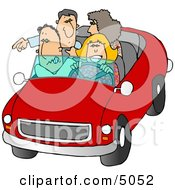 Family And Friends Going On A Road Trip Clipart