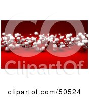 Royalty Free RF 3D Clipart Illustration Of A Red Background With Floating Dust Or Spheres