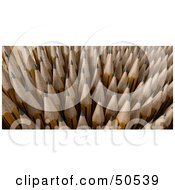Royalty Free RF 3D Clipart Illustration Of Sharp Upright Pencil Tips