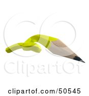 Royalty Free RF 3D Clipart Illustration Of A Knotted Yellow Pencil