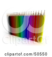 Royalty Free RF 3D Clipart Illustration Of An Array Of Pencils by Frank Boston