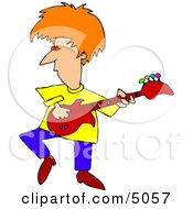 Colorful Guitarist Clipart