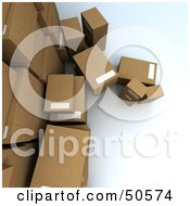 Royalty Free RF 3D Clipart Illustration Of A Group Of Prepared Shipping Boxes Version 1