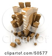 Royalty Free RF 3D Clipart Illustration Of Stacks Of Cardboard Boxes Angle 2 by Frank Boston