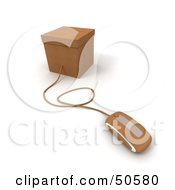 Royalty Free RF 3D Clipart Illustration Of A Computer Mouse Connected To A Box Version 3