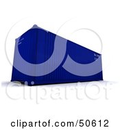 Royalty Free RF 3D Clipart Illustration Of A Blue Cargo Container Version 3 by Frank Boston