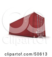 Royalty Free RF 3D Clipart Illustration Of A Red Freight Container by Frank Boston