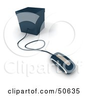 Royalty Free RF 3D Clipart Illustration Of A Computer Mouse Connected To A Box Version 1