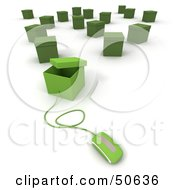 Royalty Free RF 3D Clipart Illustration Of A Computer Mouse Connected To A Box Version 6