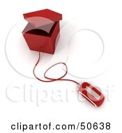 Royalty Free RF 3D Clipart Illustration Of A Computer Mouse Connected To A Box Version 8