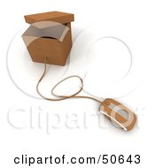 Royalty Free RF 3D Clipart Illustration Of A Computer Mouse Connected To A Box Version 5