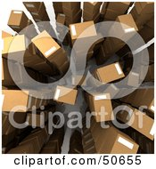 Royalty Free RF 3D Clipart Illustration Of Stacked And Labeled Shipping Boxes
