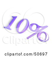 Royalty Free RF 3D Clipart Illustration Of A Purple 3d 10 Percent Off Or Interest Sign by MacX