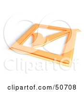 Royalty Free RF Clipart Illustration Of A 3d Orange Tick Mark On A Box
