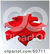 Royalty Free RF Clipart Illustration Of A Stack Of Red Puzzle Pieces