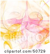 Royalty Free RF Clipart Illustration Of A Yellow Pink And White Fractal Design