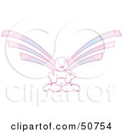 Royalty Free RF Clipart Illustration Of A Purple And Pink Asian Angel by Cherie Reve