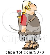 Roman Army Soldier Archer Clipart by djart