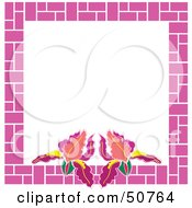 Royalty Free RF Clipart Illustration Of A Floral Frame Version 4
