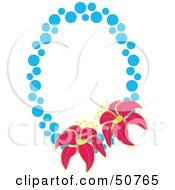 Royalty Free RF Clipart Illustration Of A Floral Frame Version 1