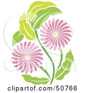 Royalty Free RF Clipart Illustration Of A Pretty Floral Design Element Version 5 by Cherie Reve
