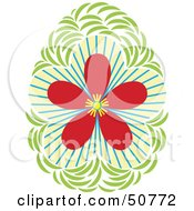 Royalty Free RF Clipart Illustration Of A Pretty Floral Design Element Version 2 by Cherie Reve