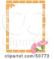 Royalty Free RF Clipart Illustration Of A Floral Frame Version 3 by Cherie Reve