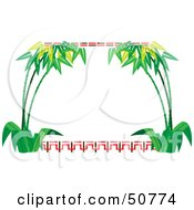 Royalty Free RF Clipart Illustration Of A Bamboo Frame With Text Space Version 1