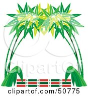 Royalty Free RF Clipart Illustration Of A Bamboo Frame With Text Space Version 3