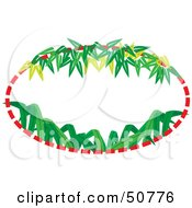 Royalty Free RF Clipart Illustration Of A Bamboo Frame With Text Space Version 2