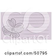 Royalty Free RF Clipart Illustration Of A Floral Notepad Design With Lines Version 6 by Cherie Reve