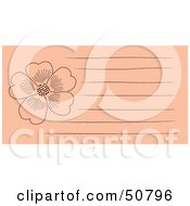 Royalty Free RF Clipart Illustration Of A Floral Notepad Design With Lines Version 2 by Cherie Reve