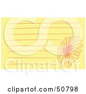 Royalty Free RF Clipart Illustration Of A Floral Notepad Design With Lines Version 4 by Cherie Reve