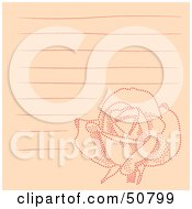 Royalty Free RF Clipart Illustration Of A Floral Notepad Design With Lines Version 5 by Cherie Reve
