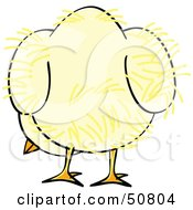 Royalty Free RF Clipart Illustration Of A Fluffy Yellow Spring Chick Version 8 by Cherie Reve