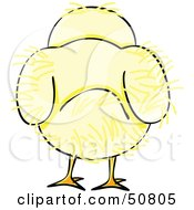Royalty Free RF Clipart Illustration Of A Fluffy Yellow Spring Chick Version 9 by Cherie Reve