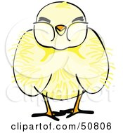 Royalty Free RF Clipart Illustration Of A Fluffy Yellow Spring Chick Version 3 by Cherie Reve