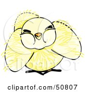 Royalty Free RF Clipart Illustration Of A Fluffy Yellow Spring Chick Version 4 by Cherie Reve
