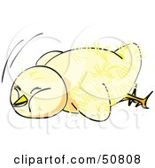 Royalty Free RF Clipart Illustration Of A Fluffy Yellow Spring Chick Version 2 by Cherie Reve