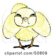 Royalty Free RF Clipart Illustration Of A Fluffy Yellow Spring Chick Version 1 by Cherie Reve