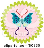 Royalty Free RF Clipart Illustration Of A Decorative Butterfly Circle Version 1 by Cherie Reve