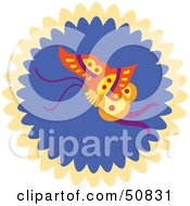 Royalty Free RF Clipart Illustration Of A Decorative Butterfly Circle Version 3 by Cherie Reve